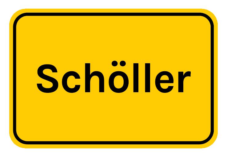 Ortstafel Schöller