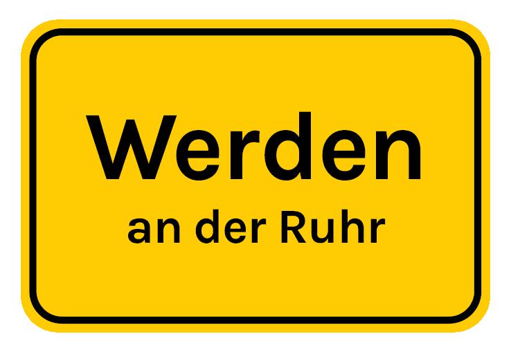 Ortstafel Werden an der Ruhr