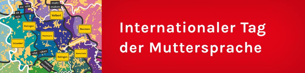 Banner für den Tag der Muttersprache