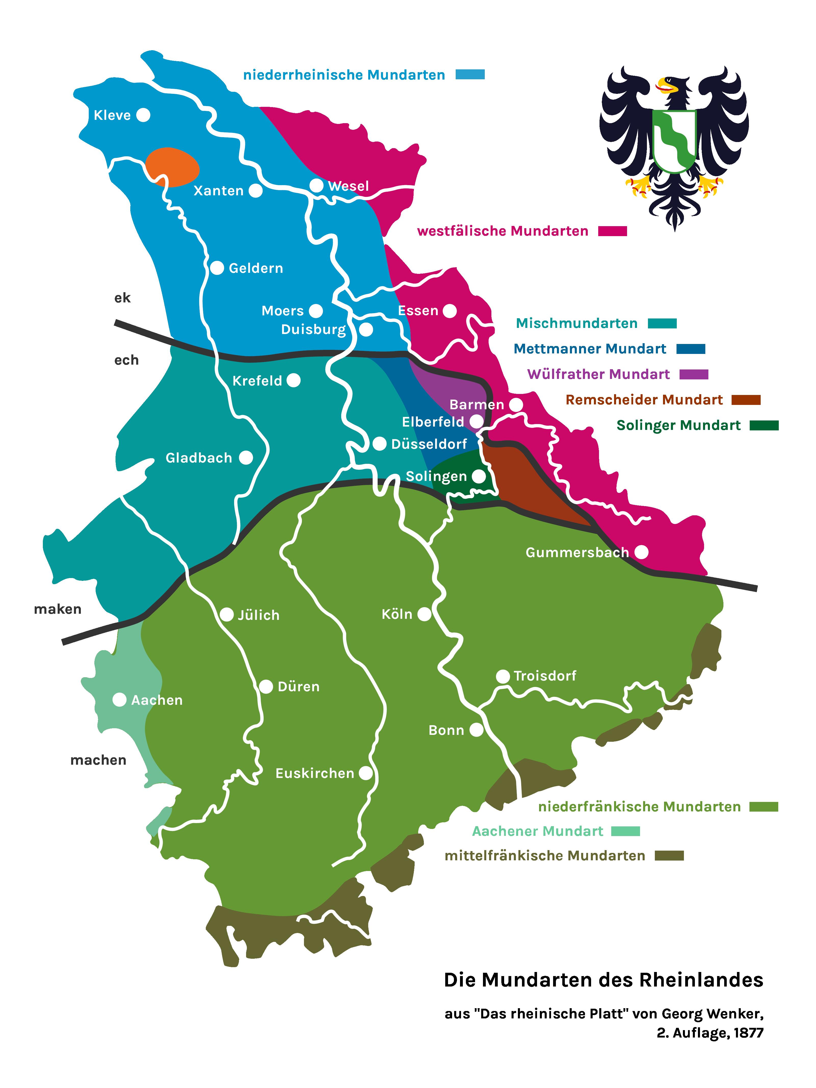 Die Mundarten des Rheinlandes