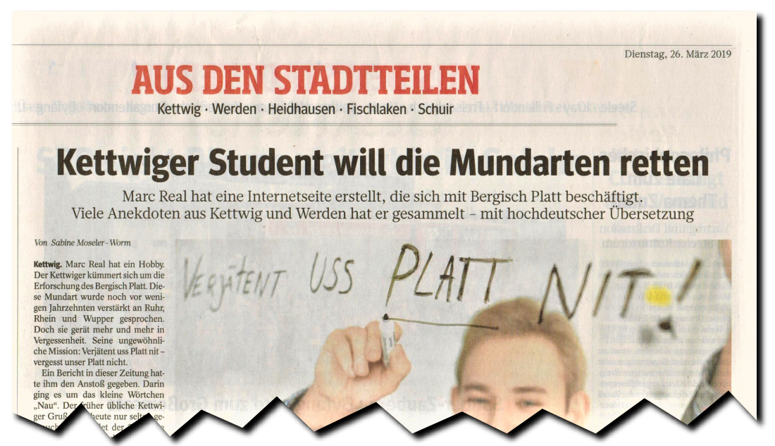 """""""Kettwiger Student will die Mundarten retten"""""""